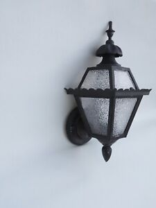 Vintage Gothic Tudor Storybook Porch Light Fixture Outdoor Sconce Wall