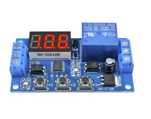 Dc 12v Trigger Cycle Timer Delay Relay Led Display Digital Switch Relay