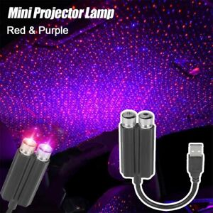 Led Starry Sky Star Projector Lights Usb Car Interior Roof Atmosphere Lamp