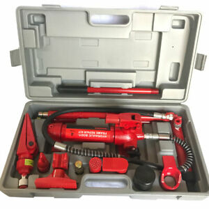 4 Ton Hydraulic Jack Body Frame Steel Red Portable Car Lift Repair Hand Tools