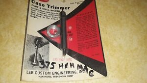 Vintage Lee Hand Priming Tool 375 Hamp;H Mag quot;Pilot and Shell holder $11.99