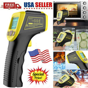 Non Contact Lcd Digital Infrared Thermometer Temperature Ir Gun Industrial New