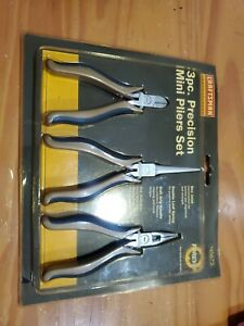 Craftsman Professional 3pc Precision Mini Pliers Set 45673 Very Rare Set New