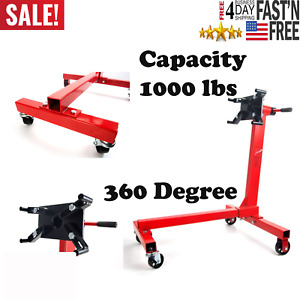 Red Engine Stand 1000 Lbs Capacity 360 Degree Head Motor Stand New