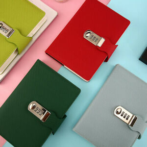 Account Record Notebook Pu Leather Cover Journal Paper Diary Planner Notepad