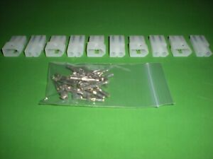 2 Pin Molex Connector Kit 5 Sets W 18 22 Awg 093 Pins Free Hanging 0 093