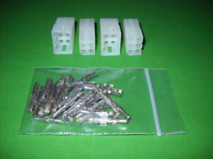 6 Pin Molex Connector Kit 2 Sets W 18 22 Awg 093 Pins Free Hanging 0 093