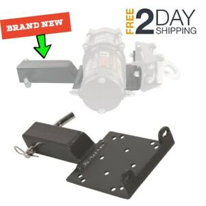 Removable Hitch Winch Mounting Bracket Heavy Duty Steel Mount Plate 2 Receiver