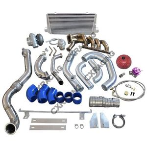 T4 Gt35 Turbo Intercooler Piping Kit For Honda S2000 F22 Thick Manifold
