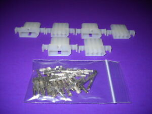 4 Pin Molex Connector Kit 3 Sets W 14 20 Awg 093 Pins Panel Mount 0 093