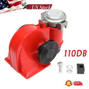 110db Super Train Horn Speaker Auto Parts For Trucks Cars Red Us Fast Shipping