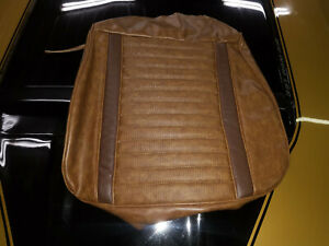 1971 1973 Mustang New Upholstery 1 Front Seat Cover Lower Ginger