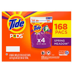 Tide Pods Liquid Laundry Detergent Pacs Spring Meadow 168 Ct