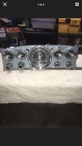 1963 Chrysler New Yorker Instrument Panel With All Gauges Switches Lighter 6