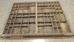 Vintage Wood Printers Drawer Letterpress Print Type Set Tray 7 Available 6