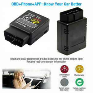 Elm 327 Obdii Car Bluetooth Code Scanner Reader Automotive Diagnostic Tool New