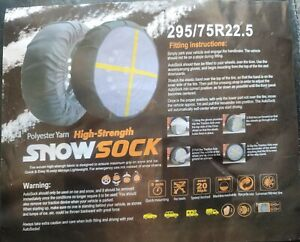 Semi Truck And Trailer Snow Sock 295 75r22 5 High strength Polyester Yarn