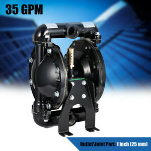 Air operated Double Diaphragm Pump 35gpm Aluminium 1 Inch Inlet outlet Waste Oil