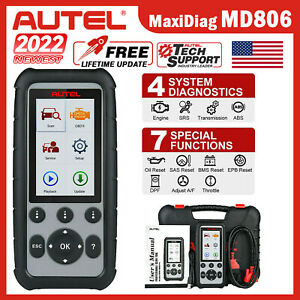 Autel Maxidiag Md806 Auto Diagnostic Scanner Tool 4 System Epb Abs Srs Dpf Md808