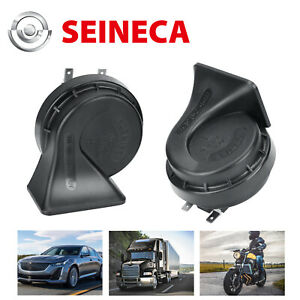 Seineca 2pcs Car Horn Super Loud Electric Air Horn For Car Motorcycle Truck Boat