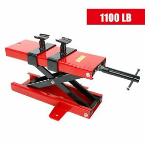 New 1100 Lbs Mini Scissor Lift Jack Atv Motorcycle Dirt Bike Crank Floor Stand