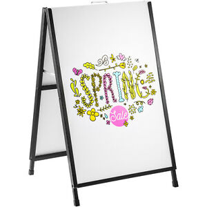 Vevor A frame Sidewalk Sign 24 X 36 Heavy duty Double sided Metal Holder Stand