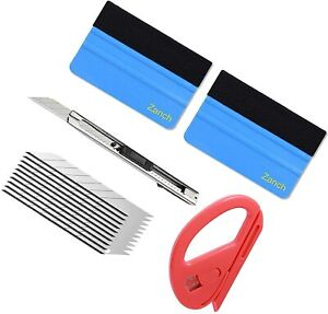 Window Tint Vinyl Wrap Tool Felt Squeegee Knife Car Graphics Decal Install Kit