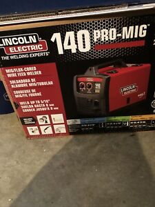 New Lincoln Electric 120v Weld Pak 140 Hd Wire feed Welder K2514 1 Brand New