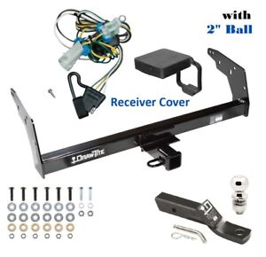 Trailer Hitch Package W 2 Ball Cover For 1998 2004 Chevy S10 Gmc Sonoma