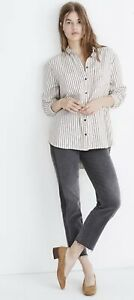Madewell J Crew Flannel Sunday Shirt Creeland Stripe Sz Xs Ad690 Free Shipping