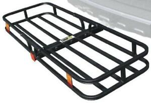 Heavy Duty Hitch Mount Compact Cargo Carrier Rack Trailer Basket Luggage Holder