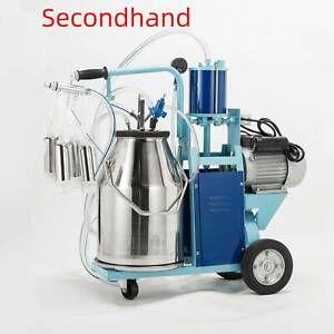 Secondhand 6 6gal Stainless Steel Electric Milking Milker Machine For Goats Cows