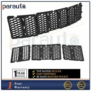 For 2014 16 Jeep Grand Cherokee Front Grille Grill Cover Black Matte W mesh X3