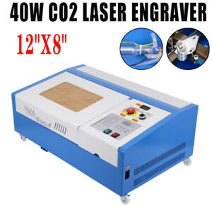 40w Co2 Laser Engraver Cutting Machine Cutter Usb Interface 12 x8 With 4 Wheels