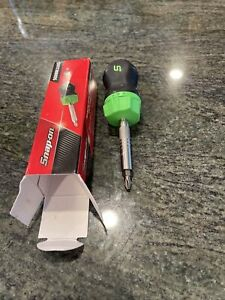 New Snap On Ratcheting Stubby Green Sift Grip Screwdriver With Bit Sgdmrc11ag