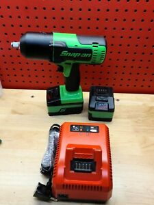 Snap On Ct8850g 1 2 Dr Monster Lithium Impact Wrench Green W Batts Charger