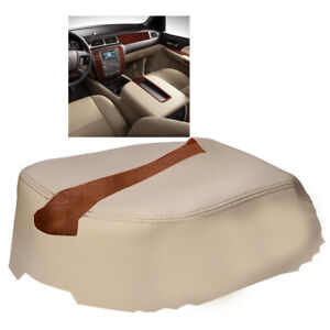 Center Console Lid Armrest Leather Cover For 07 13 Chevy Tahoe Yukon Tahoe Beige