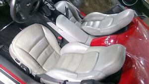 09 11 Chevy C6 Corvette Oem Power Heated Memory Leather Seats pair Left right