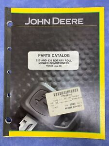 John Deere Pc2568 Parts Catalog For 925 935 Rotary Roll Mower Conditioners