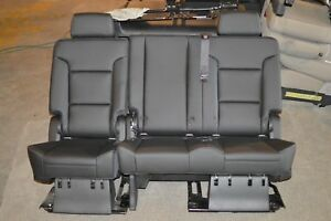 2015 2018 Tahoe Yukon Escalade Leather Second 2nd Seat Ebony black Oem New