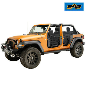 Eag Matrix Replacement Tube Door With Mirror Fit For 18 21 Jeep Wrangler Jl 4dr