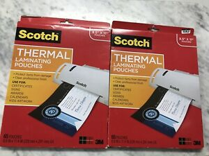 2pk Scotch Thermal Laminating Pouches Variety Pack 65 Pouches 130 Pouches