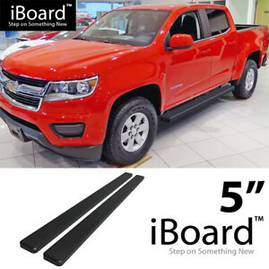 Running Board 5in Aluminum Black Fit Chevy Colorado Gmc Canyon Crew Cab 15 21