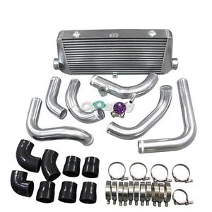 Front Mount Intercooler 2 5 Piping Kit Bov For Nissan S13 S14 240sx Rb20 25det