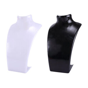2 Pack Acrylic Shop Mannequin Bust Jewelry Necklace Pendant Display