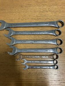 Vintage S k Wayne Metric Wrench Partial Set 7 Piece Set Used