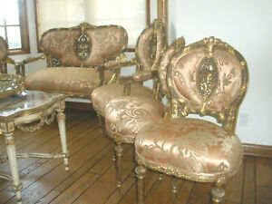 Never Seen 7 Pc French Antique 18th Century Louis Xvi Sofa Arm Chairs Chairs Set