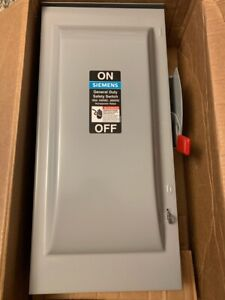 Siemens 100 amp 240v 2 pole Fusible General duty Safety Switch Disconnect