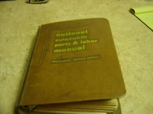 1954 1958 National Parts Labor Body Repair Book Studebaker Chevy Ford Chrysle