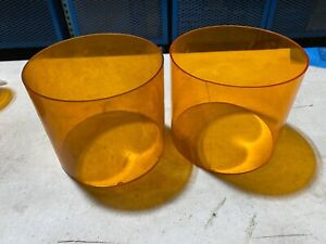 2x Federal Signal Dome lamp Lens Amber Strobe Or Beacon 5 h X 6 w One Broken